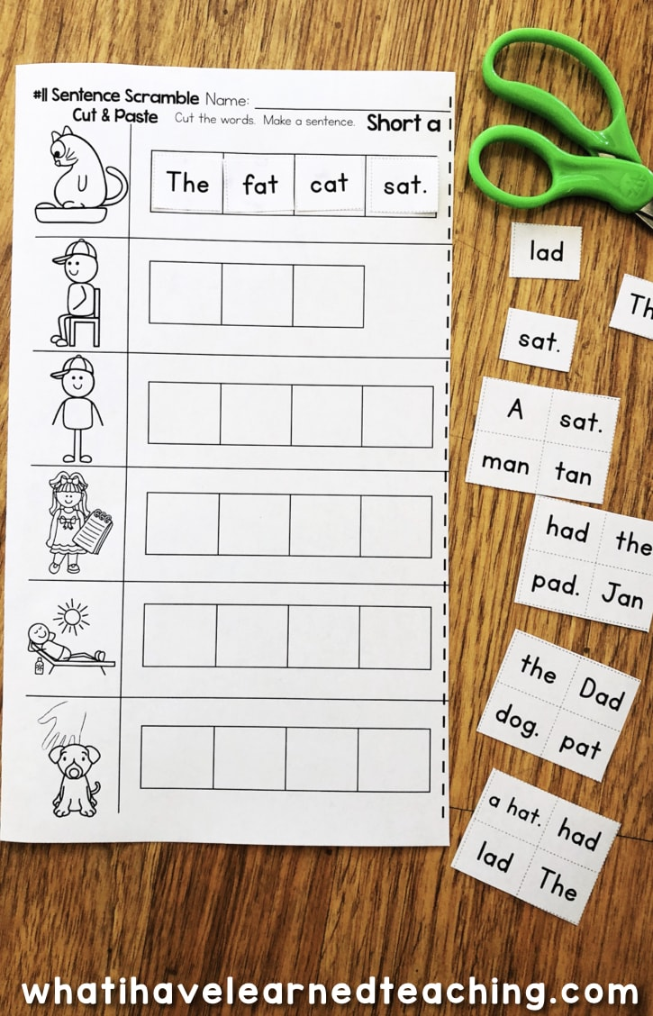 Short A Phonics Worksheets - Short A CVC Words [ 1128 x 725 Pixel ]
