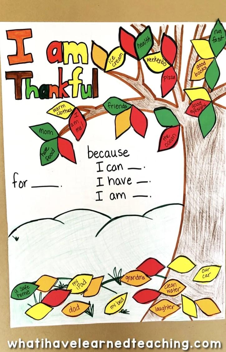 Thanksgiving Craftivity - Thankful Tree [ 1128 x 725 Pixel ]