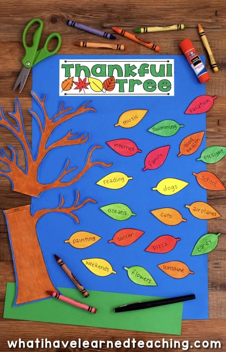 medium resolution of Thanksgiving Craftivity - Thankful Tree