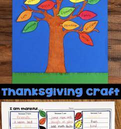 Thanksgiving Craftivity - Thankful Tree [ 1428 x 680 Pixel ]