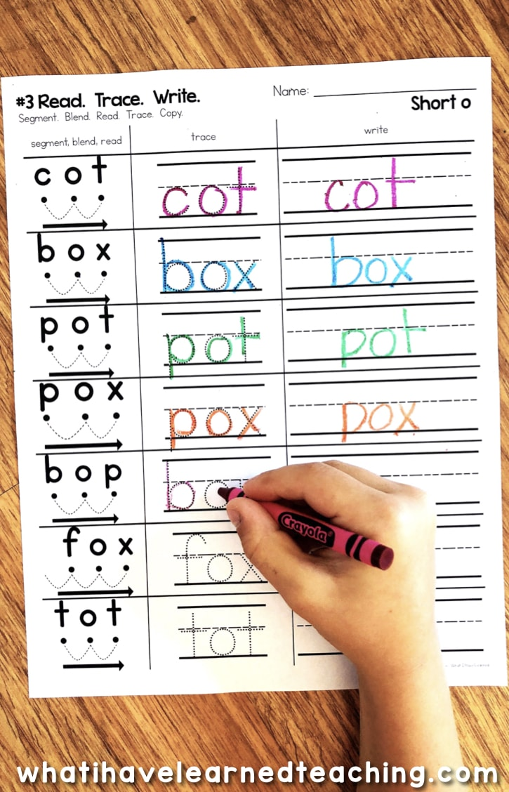 hight resolution of Short O Phonics Worksheets - Short O CVC Words