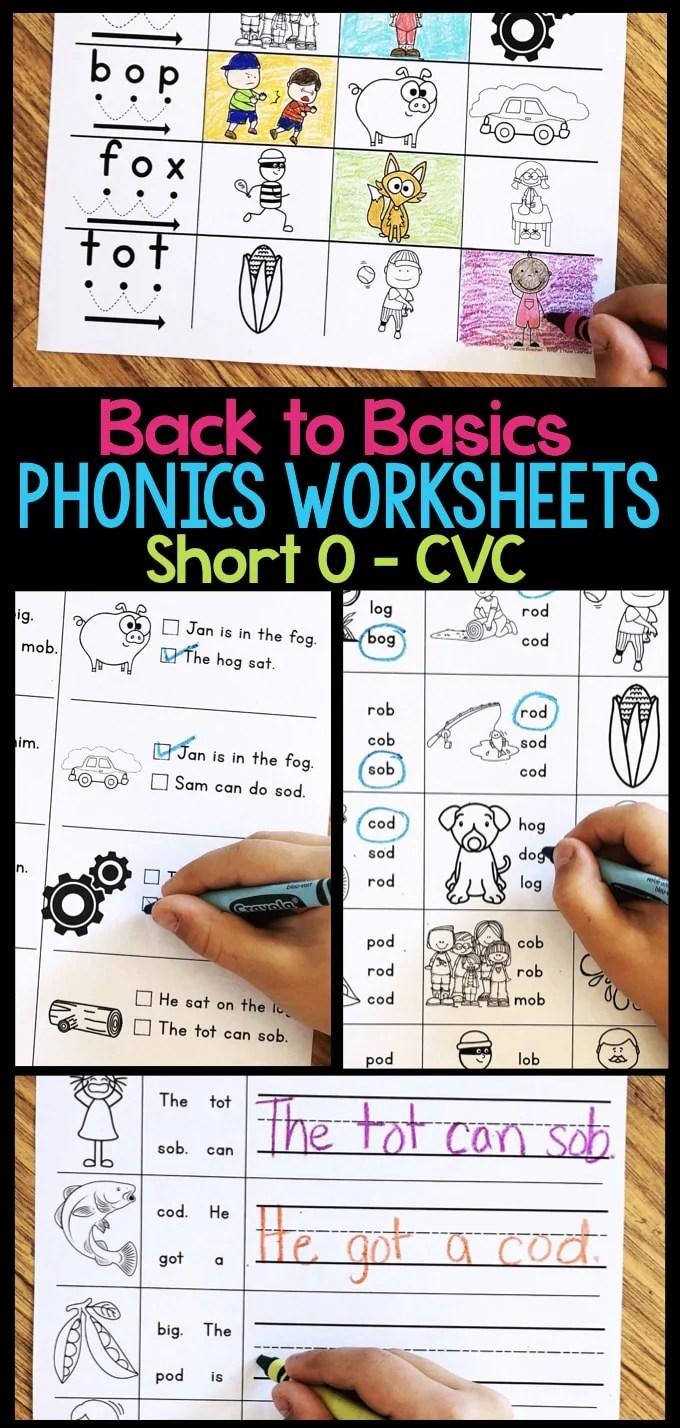 hight resolution of Short O Phonics Worksheets - Short O CVC Words