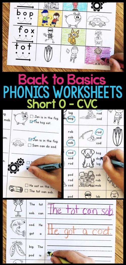 small resolution of Short O Phonics Worksheets - Short O CVC Words