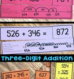Three-Digit Addition Math Centers \u0026 Task Cards [ 1428 x 680 Pixel ]