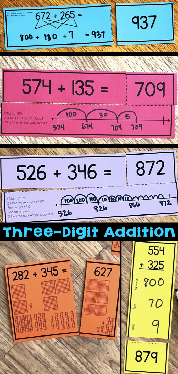 hight resolution of Three-Digit Addition Math Centers \u0026 Task Cards