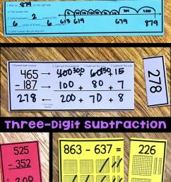 Three-Digit Subtraction Math Centers [ 1428 x 680 Pixel ]