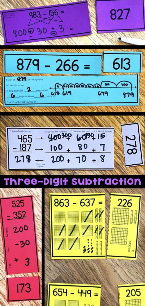 small resolution of Three-Digit Subtraction Math Centers