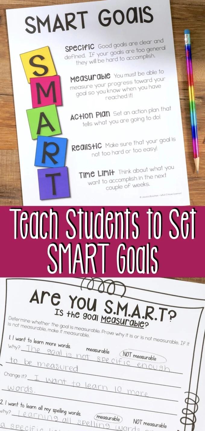 medium resolution of Teach Elementary Students to Set SMART Goals