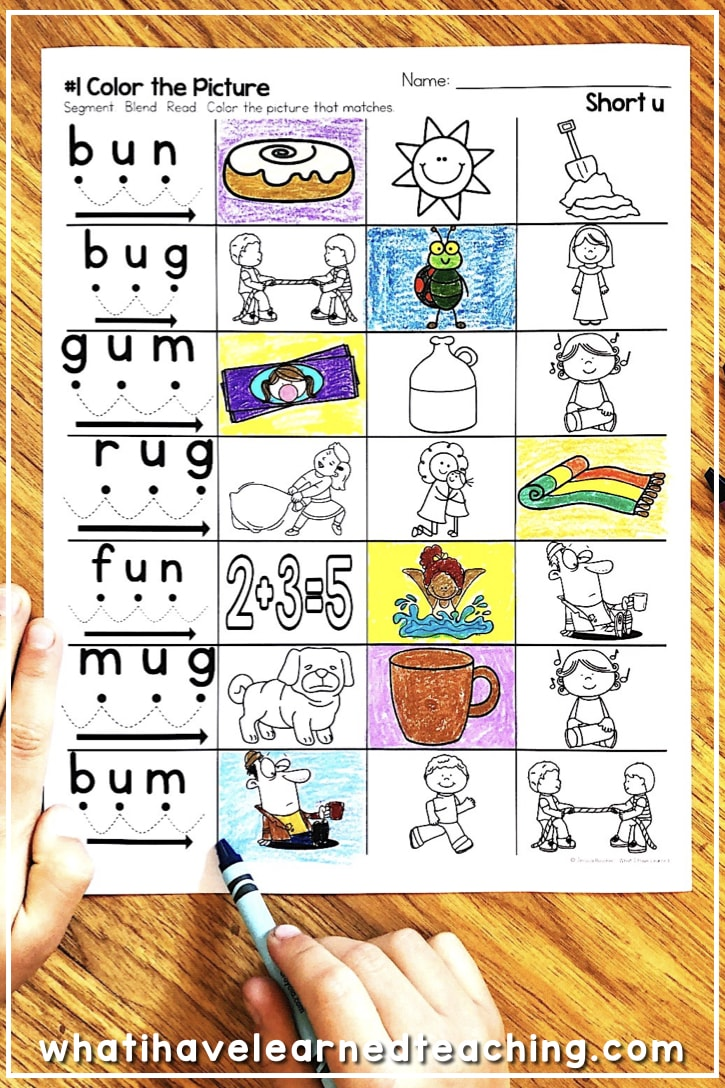 small resolution of Short U Phonics Worksheets \u0026 Activities