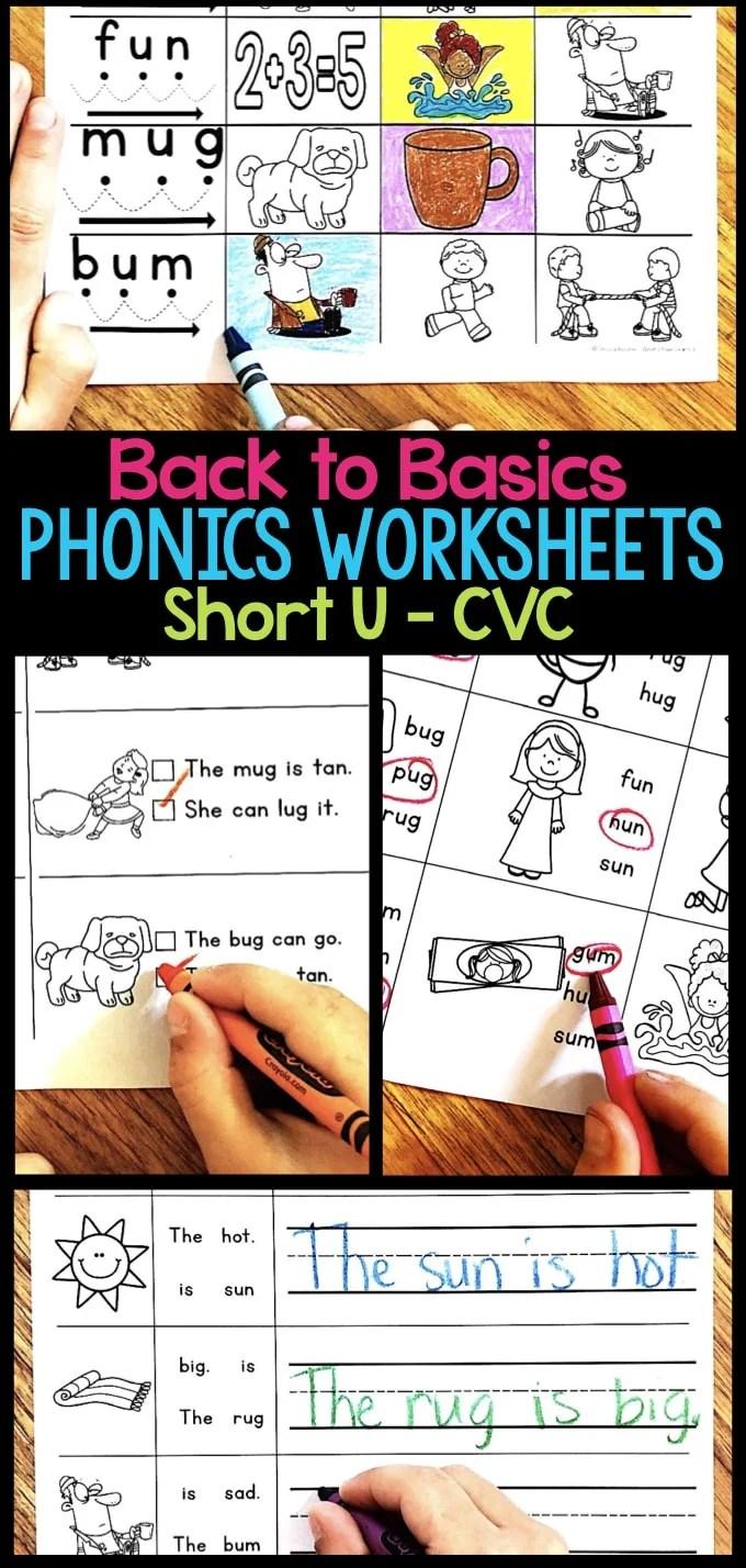 hight resolution of Short U Phonics Worksheets \u0026 Activities