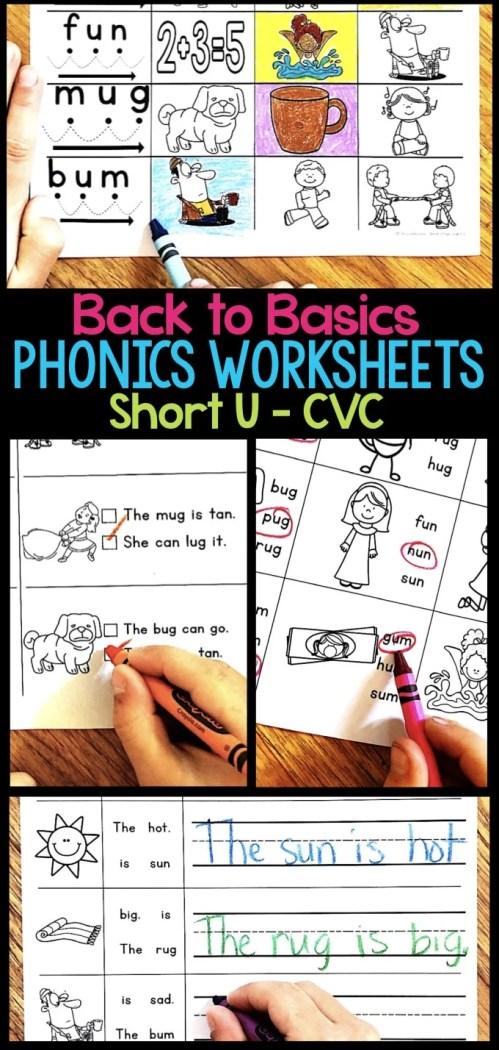 small resolution of Short U Phonics Worksheets \u0026 Activities