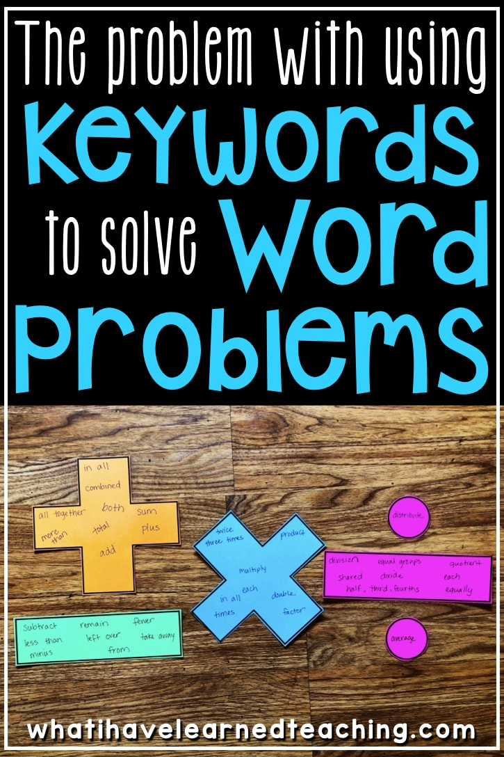 hight resolution of The Problem with using Keywords to Solve Word Problems