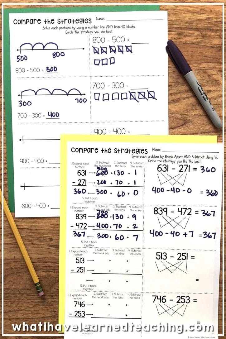 Three-Digit Subtraction Worksheets [ 1088 x 725 Pixel ]