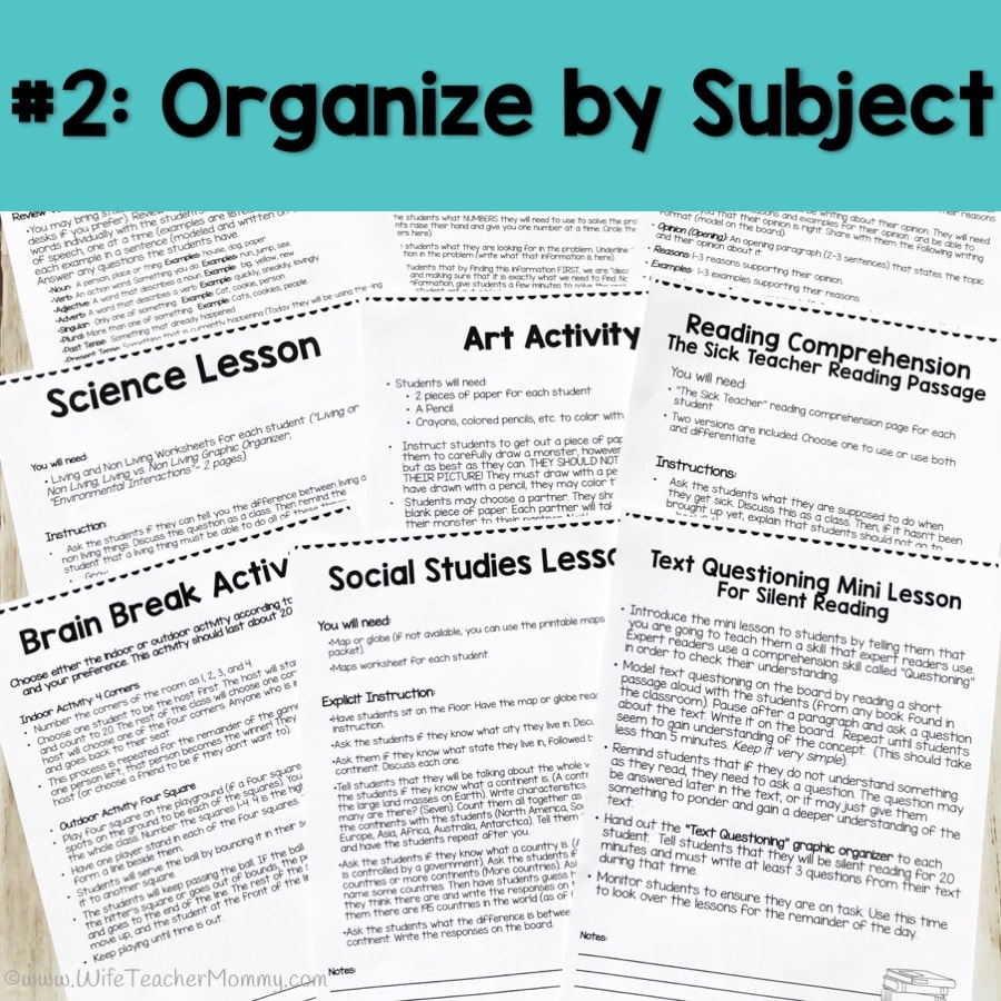 medium resolution of Six Simple Steps for Organized Emergency Sub Plans