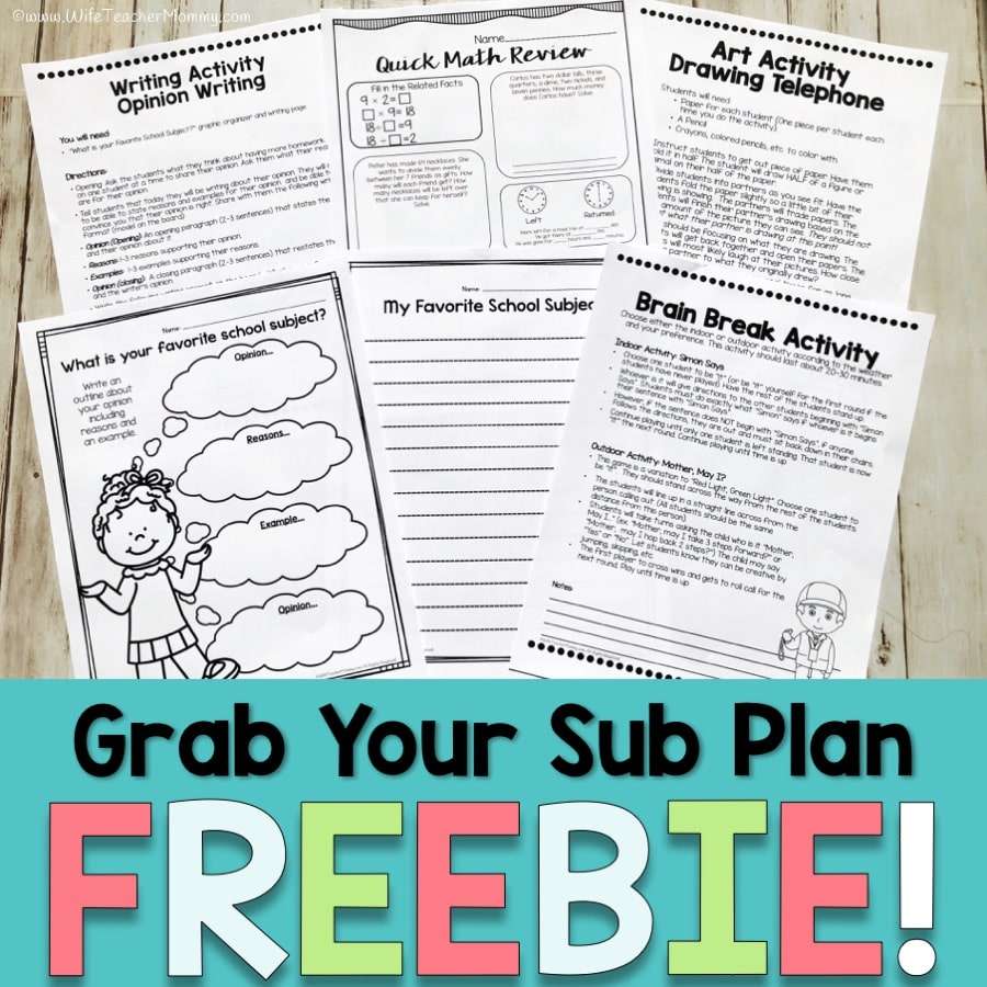 hight resolution of Six Simple Steps for Organized Emergency Sub Plans