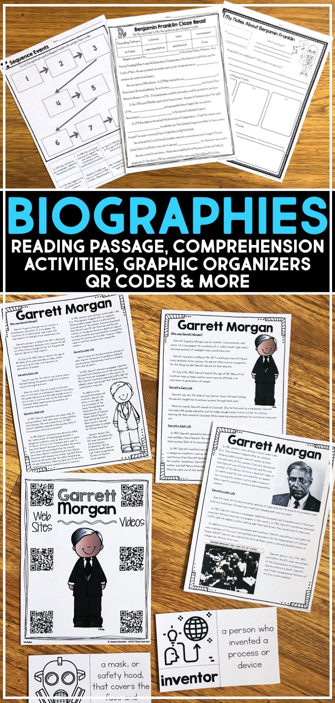 hight resolution of Biographies of Famous People for Elementary Students