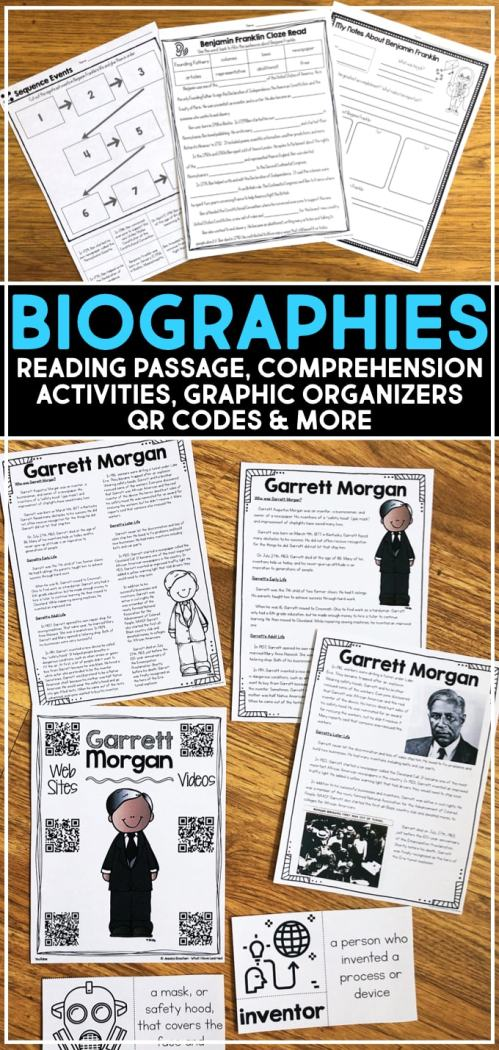 small resolution of Biographies of Famous People for Elementary Students