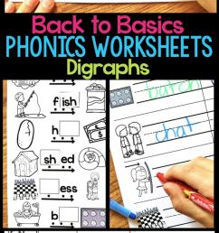 Digraph Phonics Worksheets \u0026 Activities for Elementary Students [ 1428 x 680 Pixel ]
