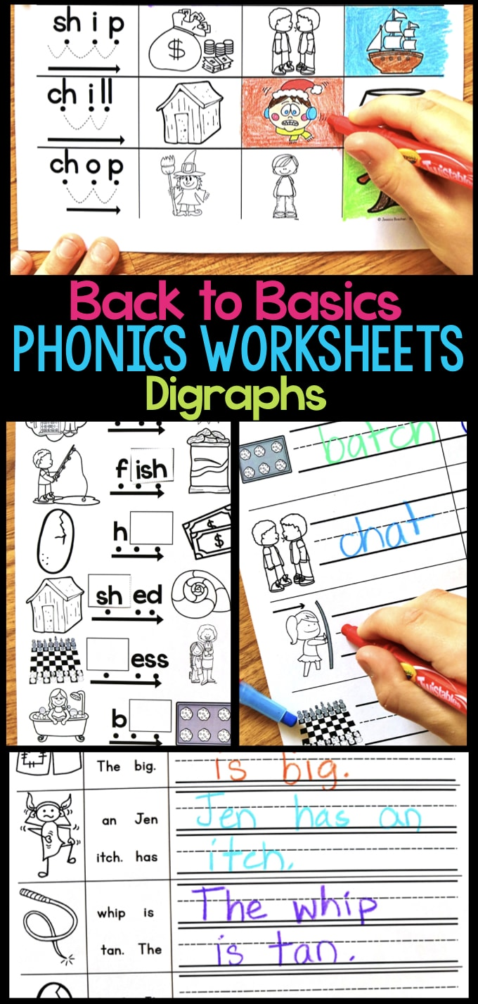 hight resolution of Digraph Phonics Worksheets \u0026 Activities for Elementary Students