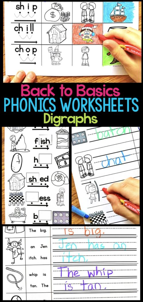 small resolution of Digraph Phonics Worksheets \u0026 Activities for Elementary Students