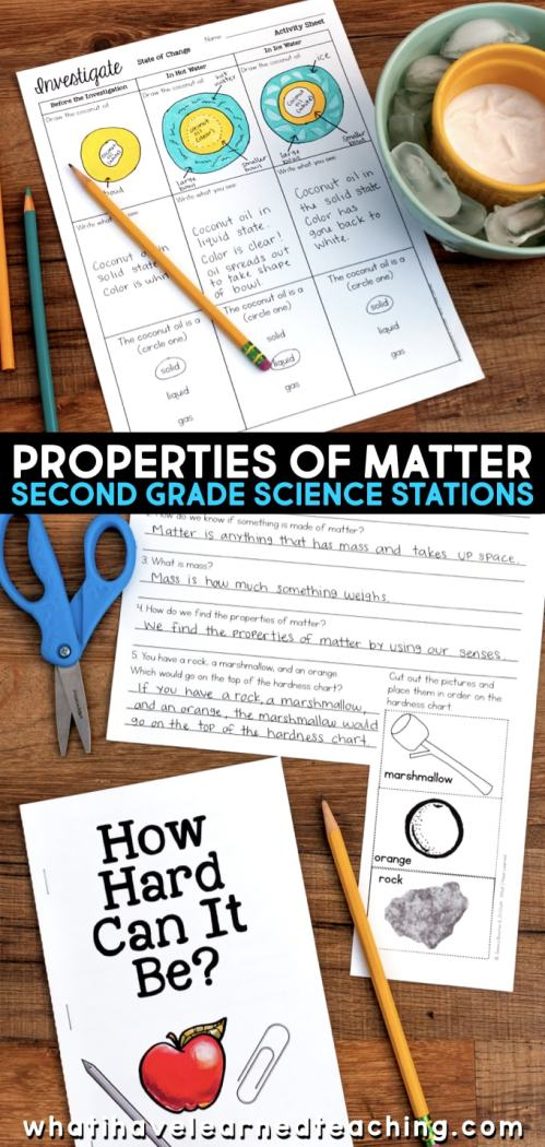 small resolution of Second Grade Science Stations for Properties of Matter