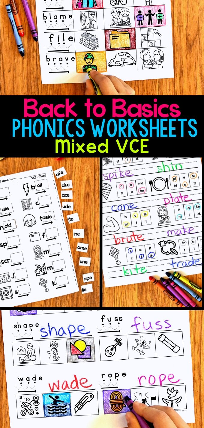 hight resolution of VCE Phonics Worksheets - Silent E Worksheets