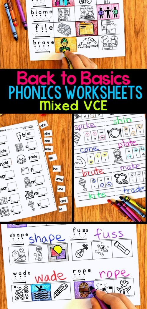 small resolution of VCE Phonics Worksheets - Silent E Worksheets