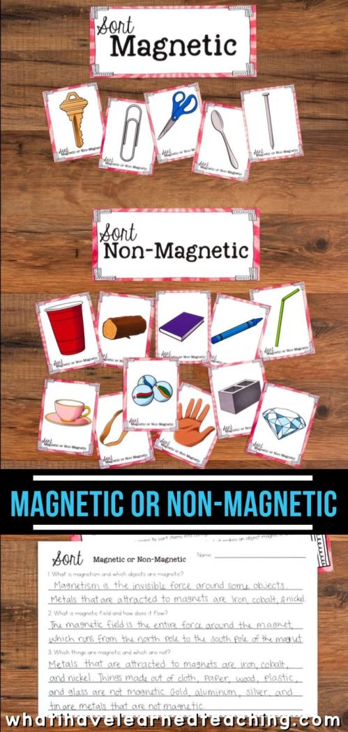 small resolution of Magnetism Sort for Third Grade Science Stations