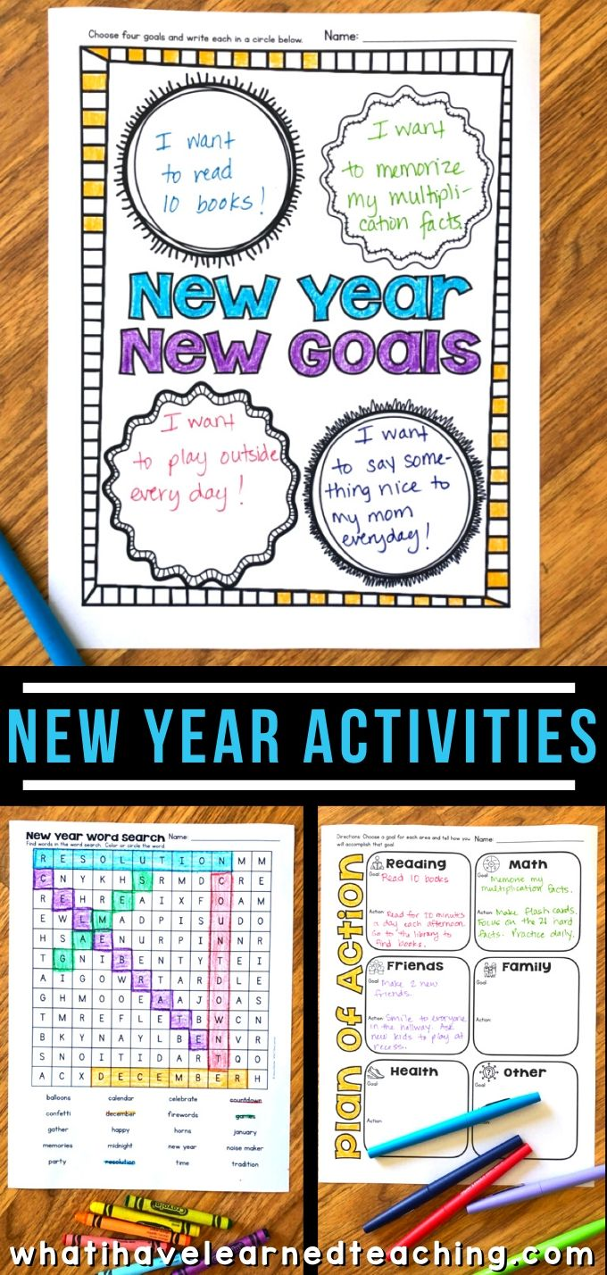 hight resolution of New Year Activities for Elementary Students