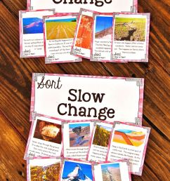Slow and Fast Landform Changes Science Sort [ 1500 x 1000 Pixel ]