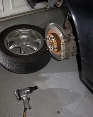 Changing brake pads