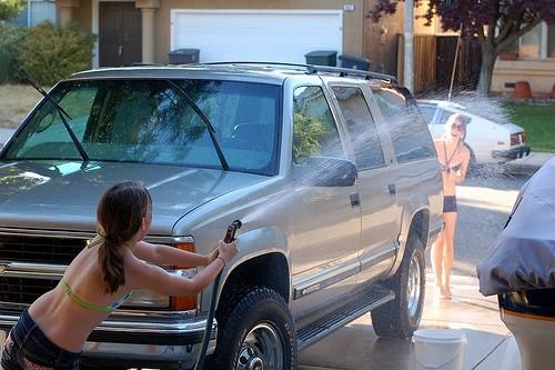 Washing the SUV