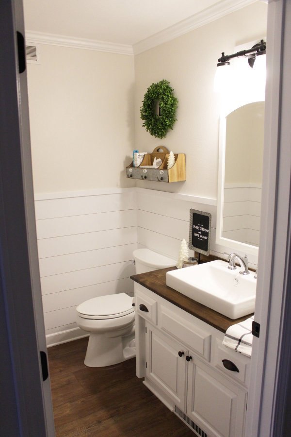 Shiplap Wainscoting In Bathroom Karly