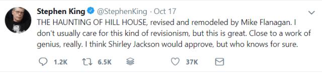 Stephen King Hill House Tweet