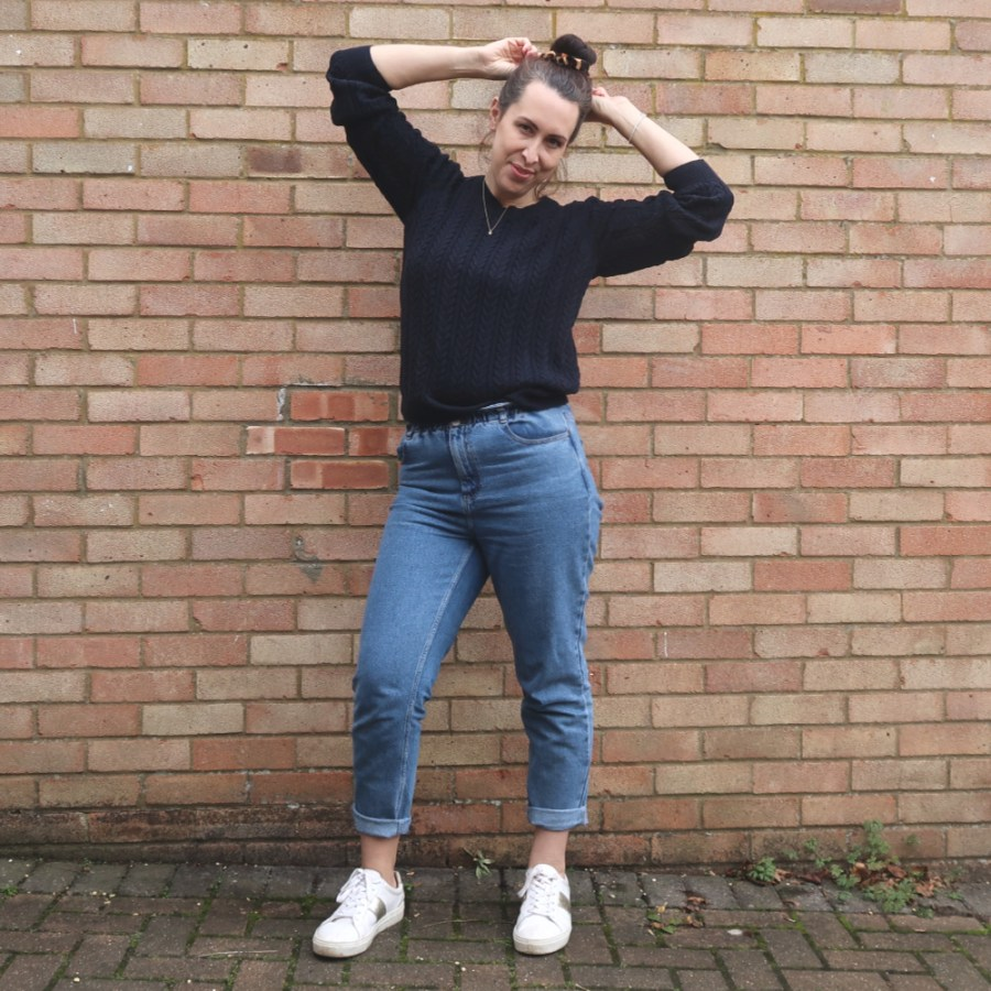 mom jeans casual look