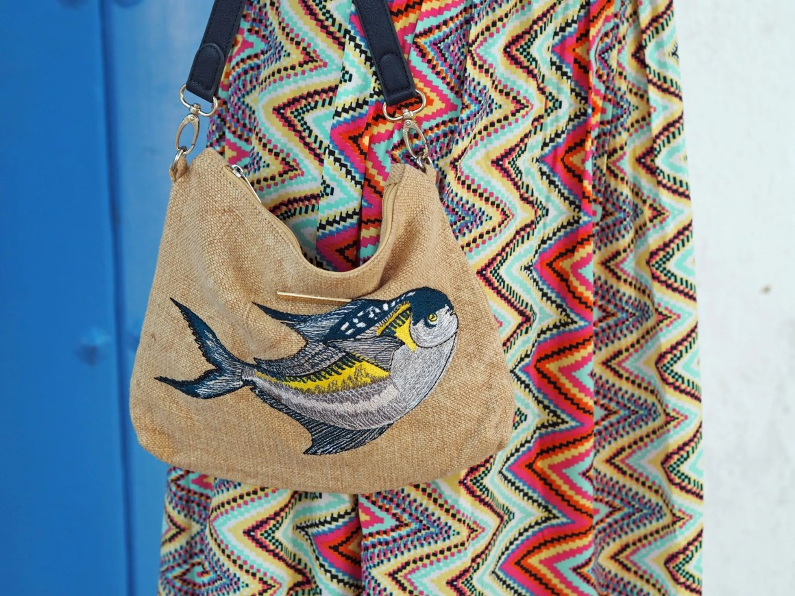 what-lizzy-loves-holiday-outfits-zigzag-maxi-dresspomfret-fish-bag-pouch-blue-door-nerja