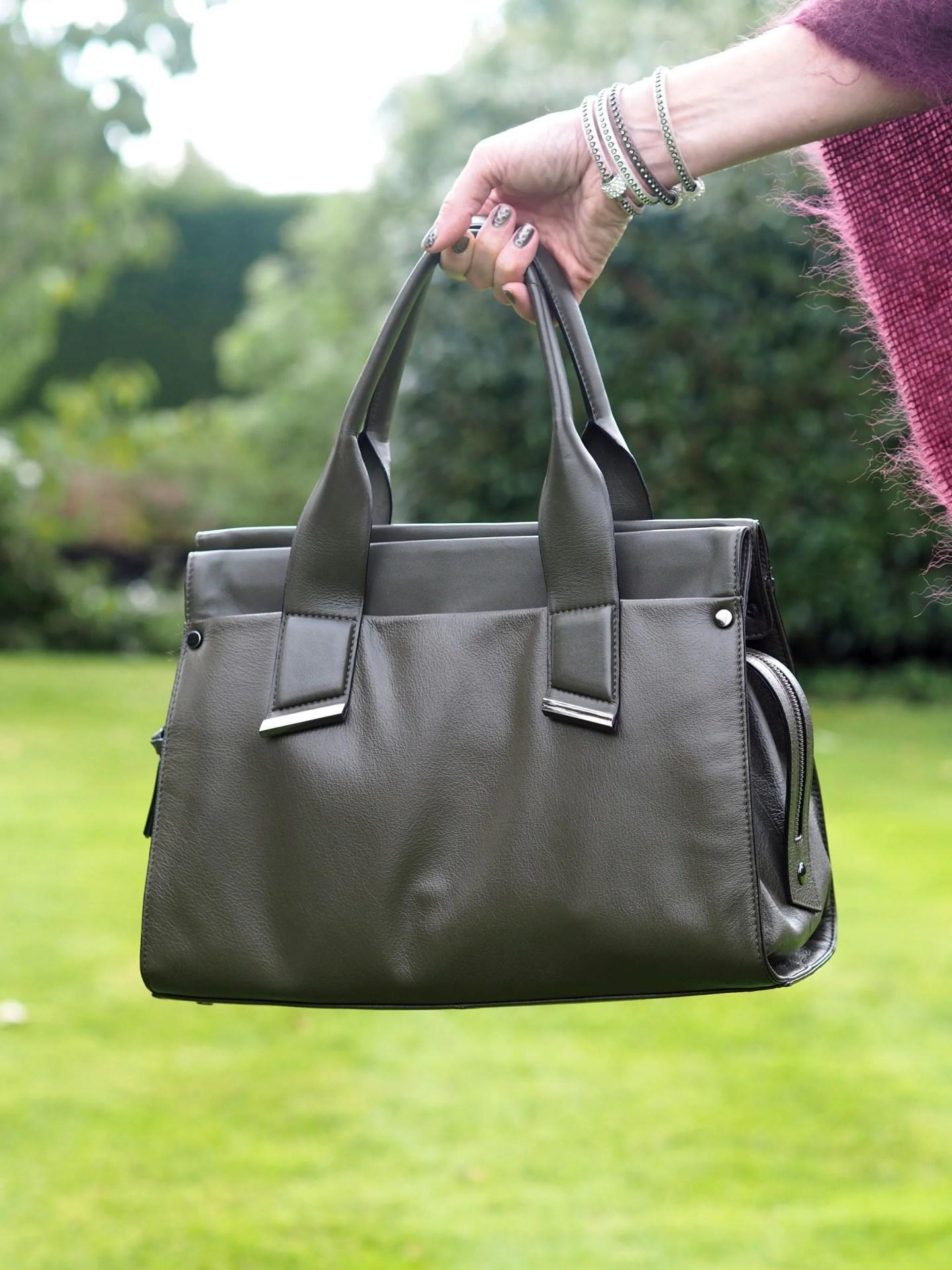 what-lizzy-loves-khaki-tunic-dress-autumn-style-leather-handbag-label-lab