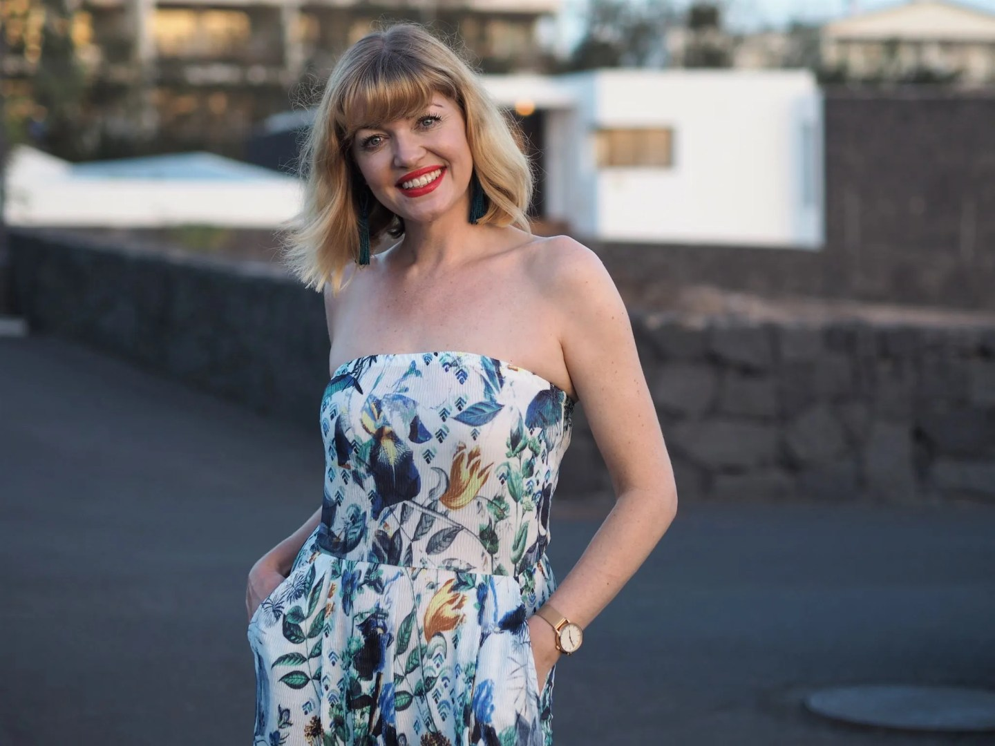 what lizzy loves floral jumpsuit lanzarote