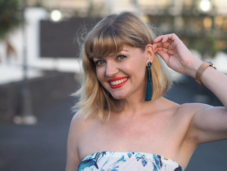what lizzy loves turquoise tassel earrings