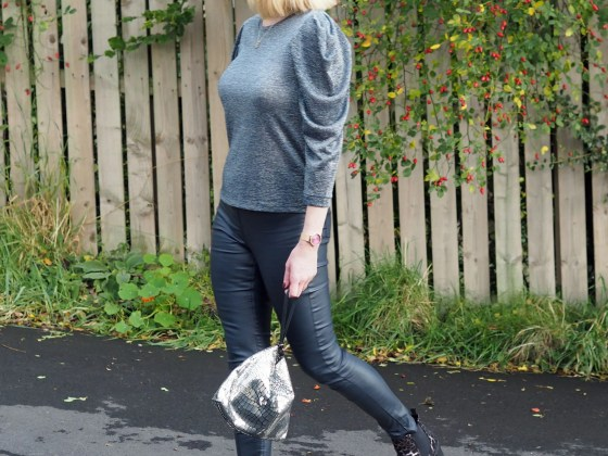 what lizzy loves metallic top coated skinnies leopard boots