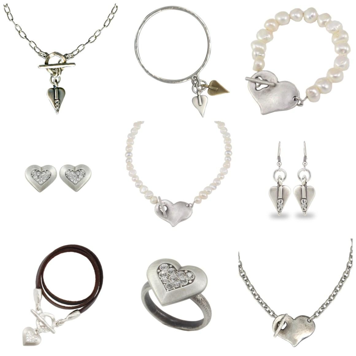 what Lizzy Loves danon heart jewellery