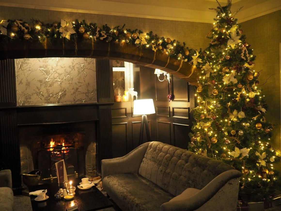 What Lizzy Loves Festive afternoon tea Stirk House open fire