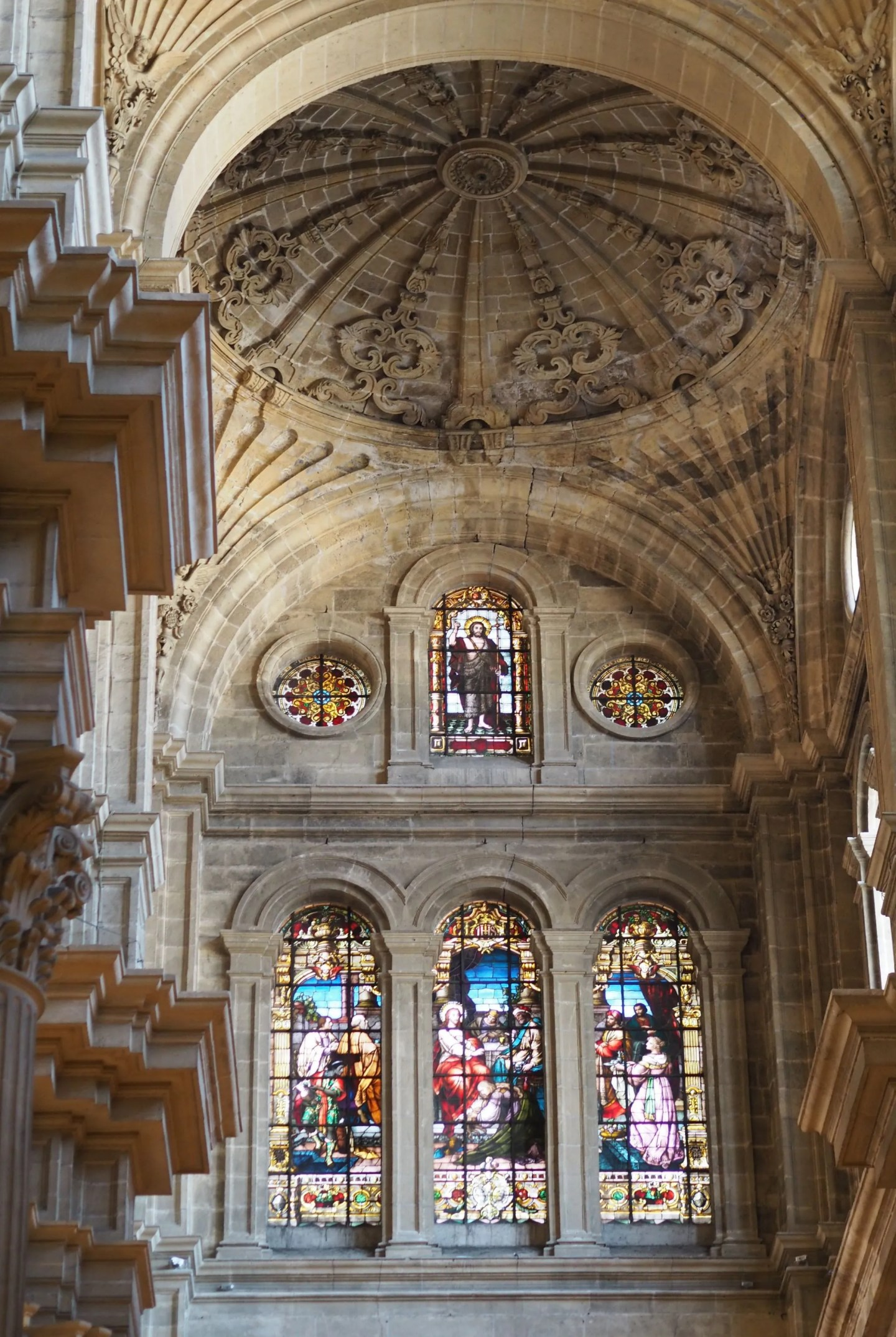 What Lizzy Loves inside Malaga cathedral in November