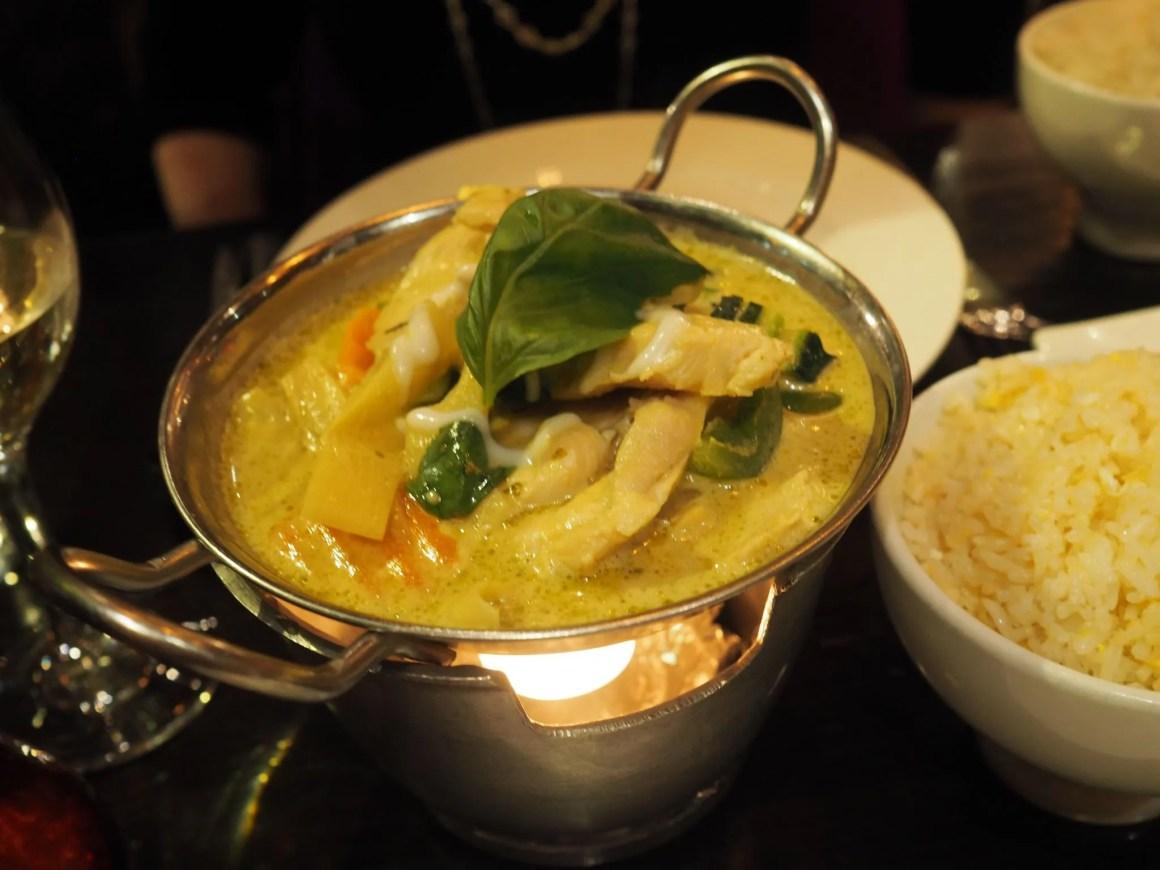 What Lizzy Loves Sukhothai restaurant review Leeds, Thai green chicken curry