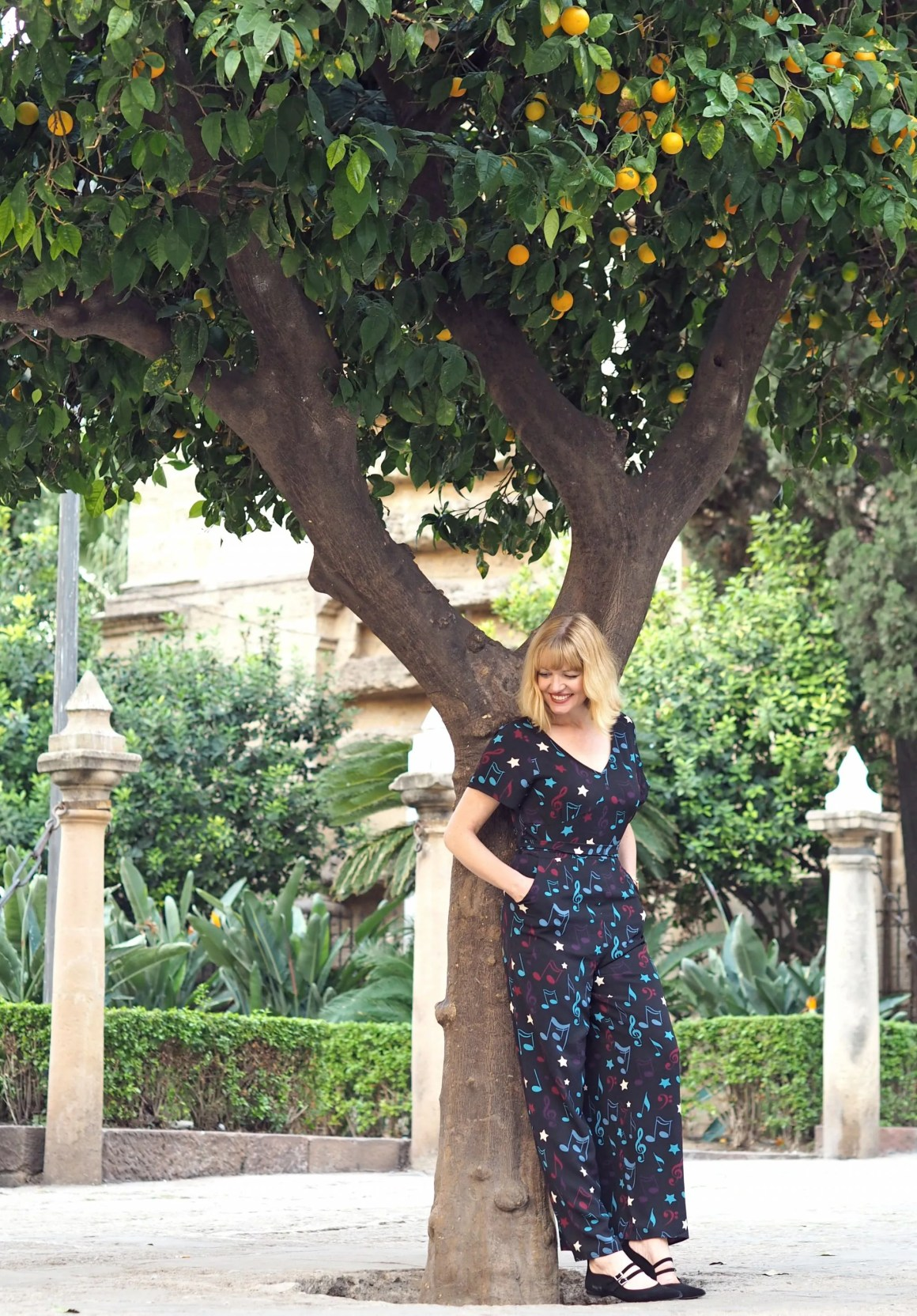 What Lizzy Loves Malaga in November jumpsuit
