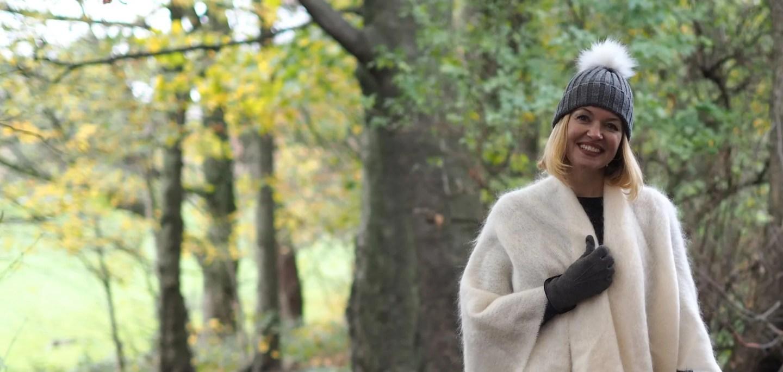 What Lizzy Loves mistletoe Christmas jumper cream ecru mohair serape over 40