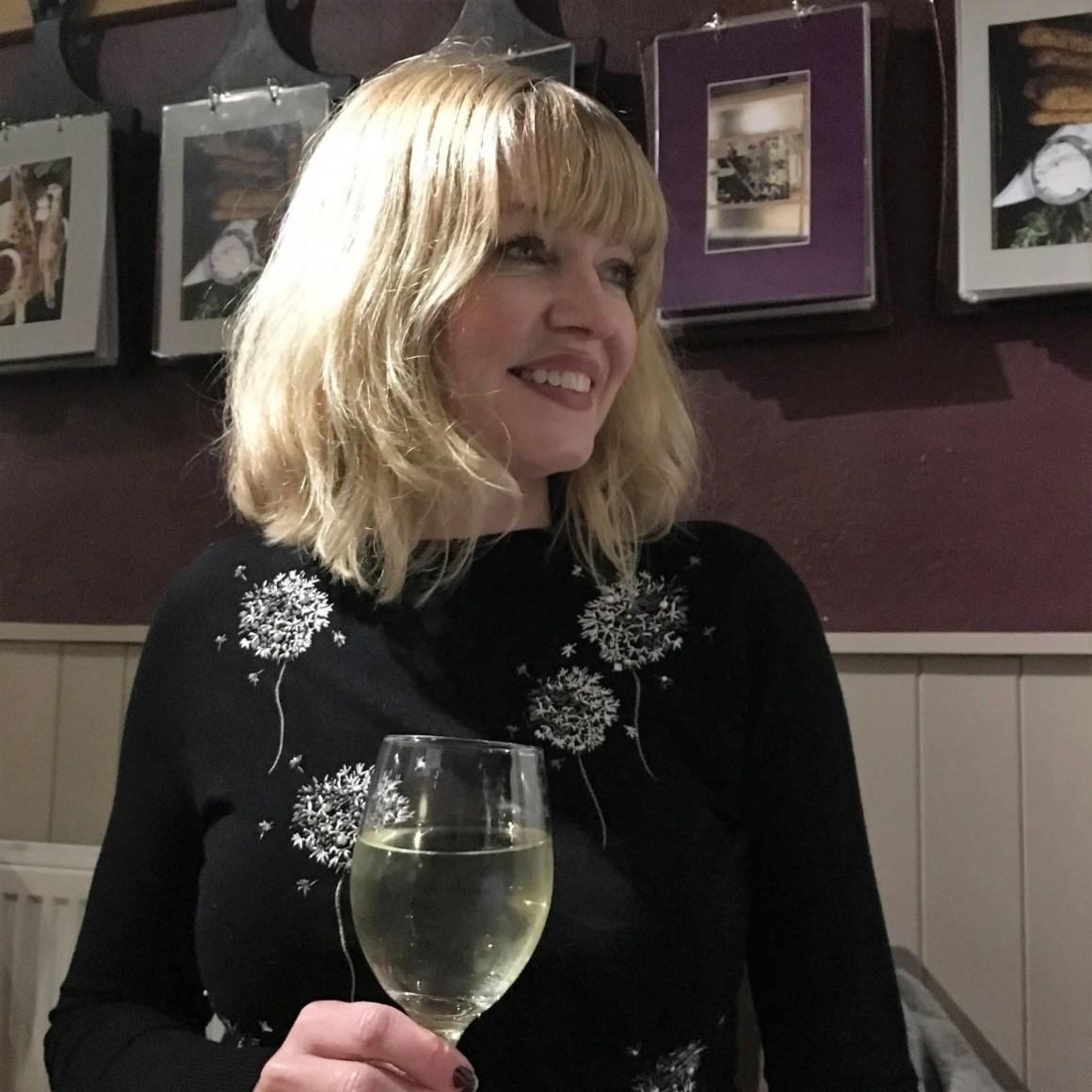 what lizzy loves denaelion embrpidered jumper white wine