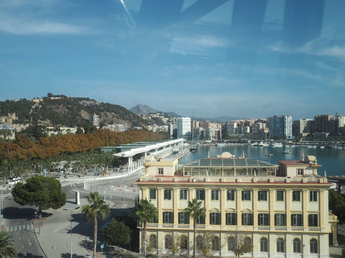 What Lizzy Loves Malaga big wheel view of port