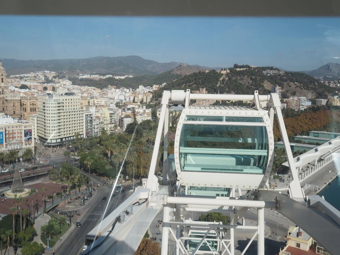 what lizzy loves malaga big wheel views across city