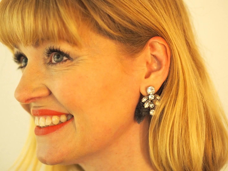 What Lizzy Loves grey tassel earrings